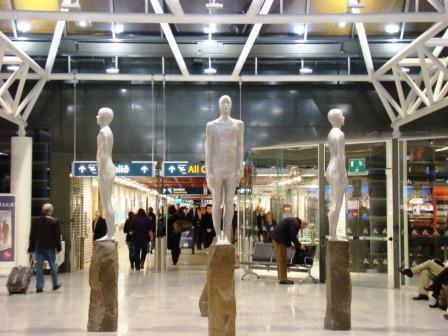 Sculpture in Keflavik Airport